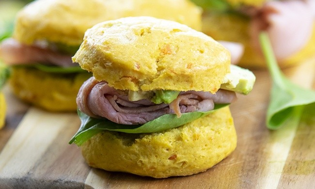 Brunch Bites Mini Ham and Avocado Biscuit Sliders