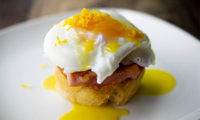 Orange Eggs Benedict