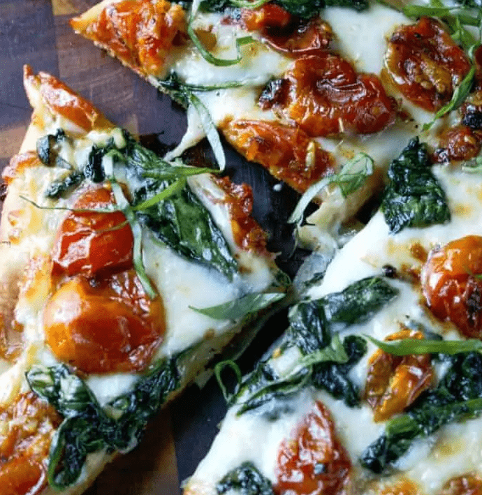 Garlic Roasted Tomato Flatbread