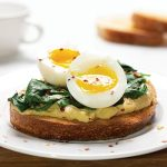 Hummus Toast Egg and Spinach