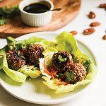 Pecan Asian Turkey Meatball Wraps