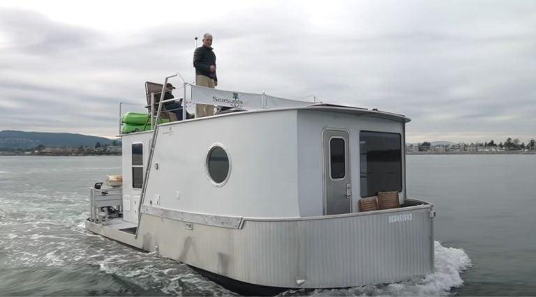 Boat Builder's AMAZING Modern Tiny House Boat