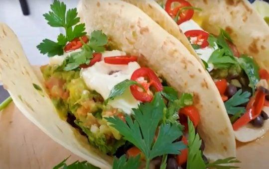 these mexican vegetarian tacos delicioso