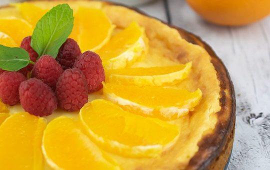 Lemon Cheesecake with Fresh Fruit
