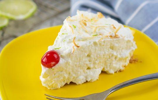 Coconut Key Lime Cream Pie