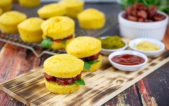 Corn Muffin Hot Dog Sliders