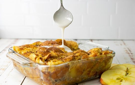 Overnight Apple Cinnamon French Toast Casserole